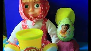 Play Doh Princess Disney egg surprise Disney Fairies Toys Маша и Медведь