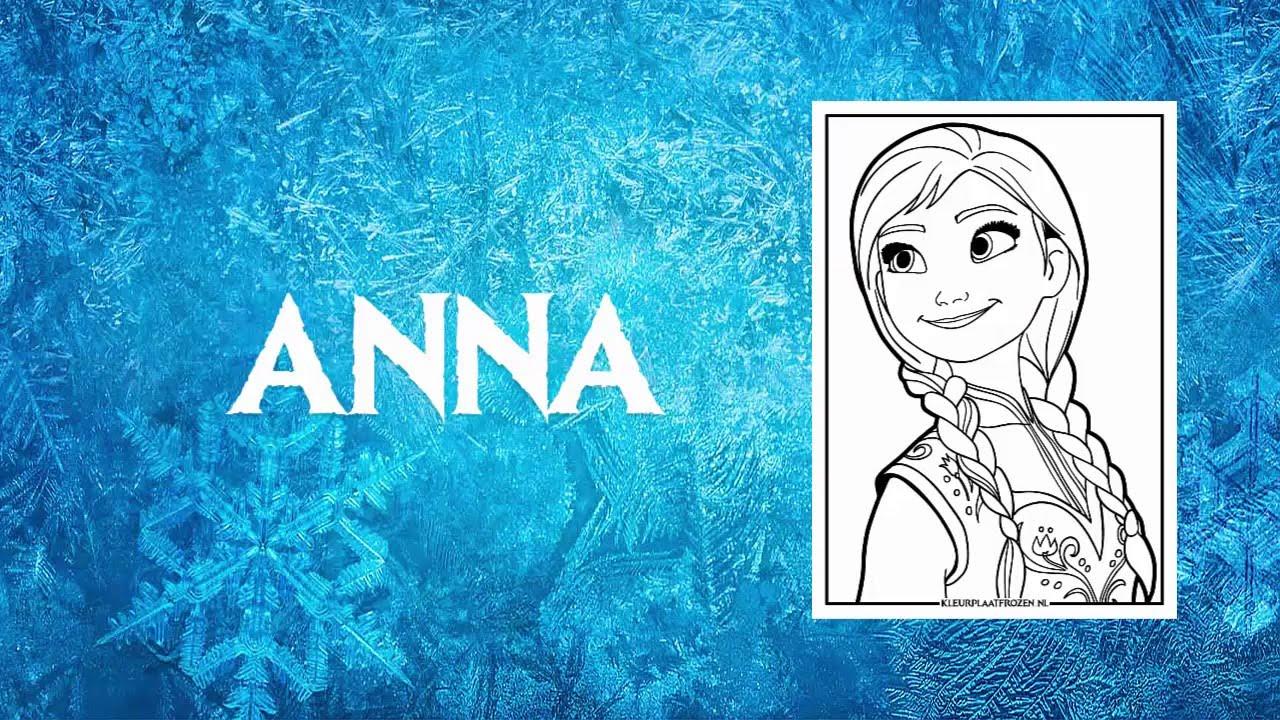 Kleurplaten Frozen Anna En Elsa.Kleurplaat Frozen Printen En Kleuren Youtube