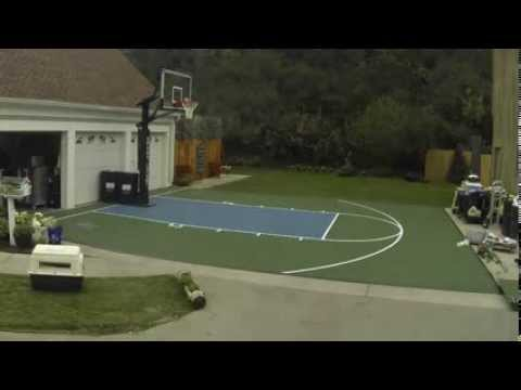 How to build a sport court basketball court youtube for How to build basketball court