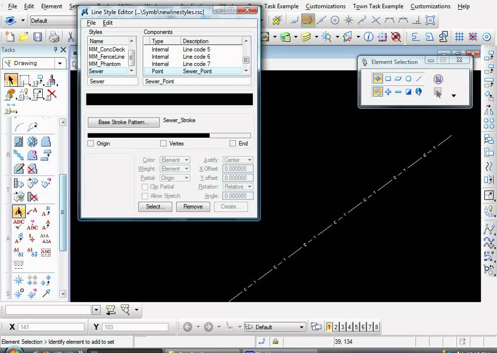 Drawing Lines In Microstation : Bentley microstation v i how to create a custom