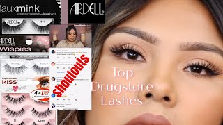 TOP AFFORDABLE DRUGSTORE LASHES || ARDELL LASHES LASHES TRY ON || AdhayGlam