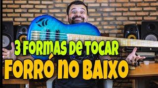 3 FORMAS DE TOCAR FORRÓ NO BAIXO - Ismael Miranda | PISADINHA