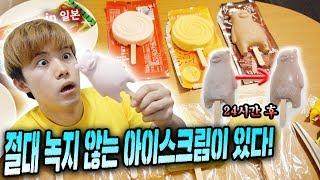 일본에 절대 녹지 않는 아이스크림이 있다고 해서 24시간 기다려보았다! (Ice Cream Never Melt for 24 hours)