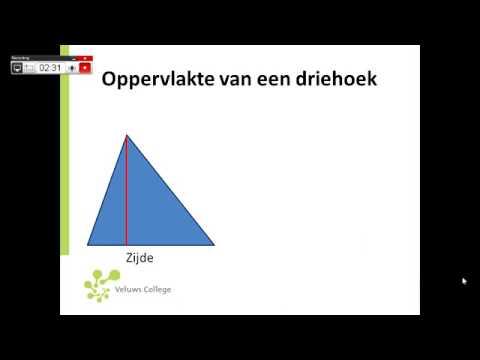 oppervlakte driehoek berekenen - youtube