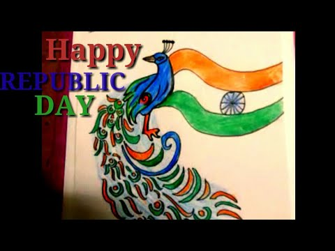 CREATIVE AND COLOURFUL DRAWING FOR REPUBLIC DAY