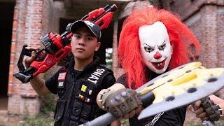 Gugu Films Nerf War : Dragon Nerf Guns Fight Criminal Groups XICMAN Mask Warriors Super Class
