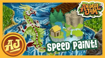 Sky Kingdom Art Collaboration Speed Paint | Animal Jam
