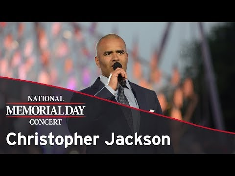 Christopher Jackson performing on the 2017 National Memorial Day Concert