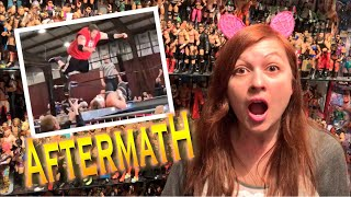 SHES PISSED ABOUT HUSBANDS DANGEROUS WRESTLING MATCH!