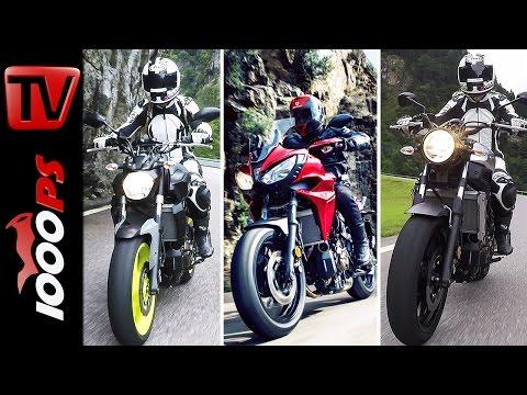 Yamaha MT-07 vs.Tracer 700 vs. XSR 700 | Test in den Schweizer Alpen