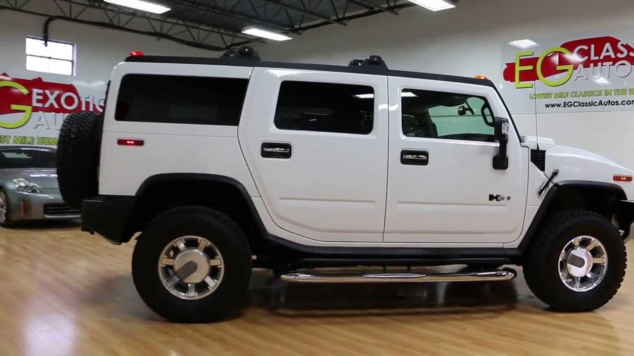 2008 hummer h2 luxury for sale rare white sedona loaded only 6 960 miles youtube