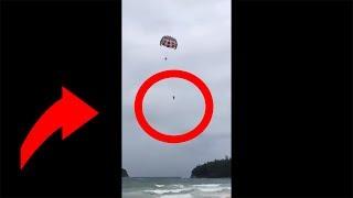 Australijski turysta spada podczas parasailing'u w Tajlandii