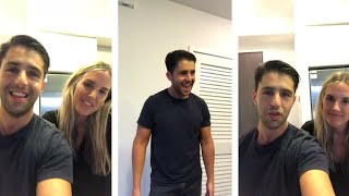 Josh Peck With Paige O'Brien Instagram live stream | October 13