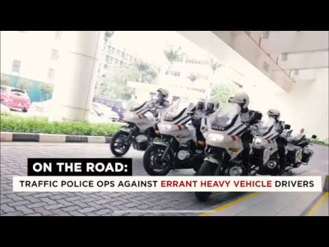 13nov2018 Singapore Traffic Police Taking Action Against Heavy Vehicles Whom Flout Traffic Rules