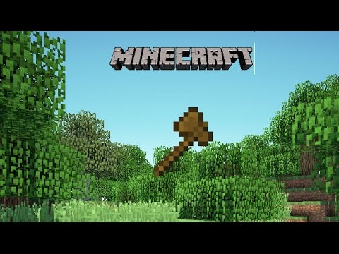 how to make wooden axe in minecraft