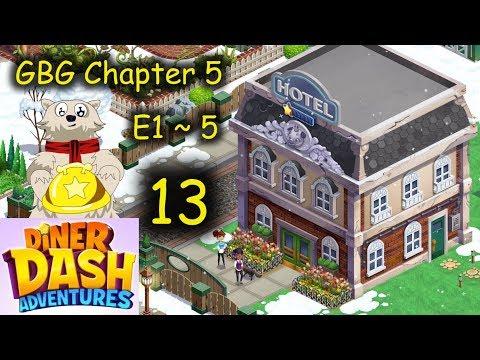 C5 E1~5 - NEW VENUE!!! Hospitality Yo (Diner Dash Adventure - DinerTown Inn = Part 13)