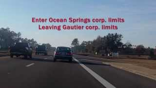 U.S. 90 West: Pascagoula to Ocean Springs [HD]