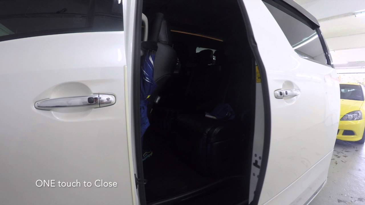 Toyota Vellfire - Power door One touch button