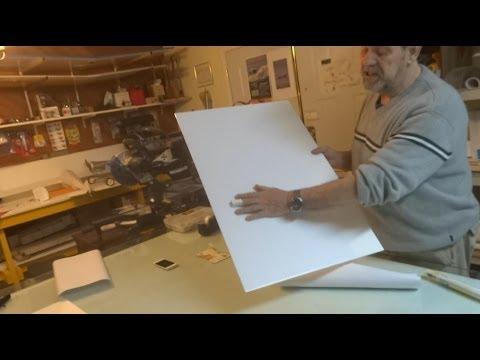 Covering foam board with Vinyl video.