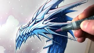 Let's Draw an ICE DRAGON - FANTASY ART FRIDAY