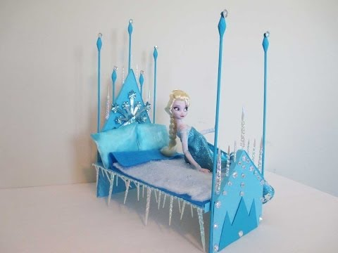 How to make a Elsa Doll Bed Tutorial/ Disney Frozen