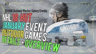 NHL 18 HUT OUTDOOR GAMES SET DETAILS! January Event Overview