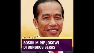 Sosok Mirip Jokowi di Bungkus Beras