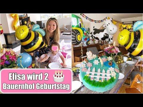 Elisas Geburtstagsparty 🎂 Strahlende Augen! Bauernhof Torte machen & dekorieren VLOG | Mamiseelen