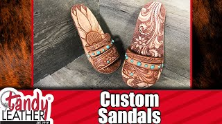 DIY Custom Leather Sandals - EASY WAY