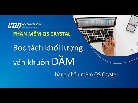 Bóc tách khối lượng ván khuôn dầm bằng phần mềm QS Crystal