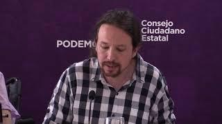 Intervención de Pablo Iglesias en la reunión del Consejo Ciudadano Estatal