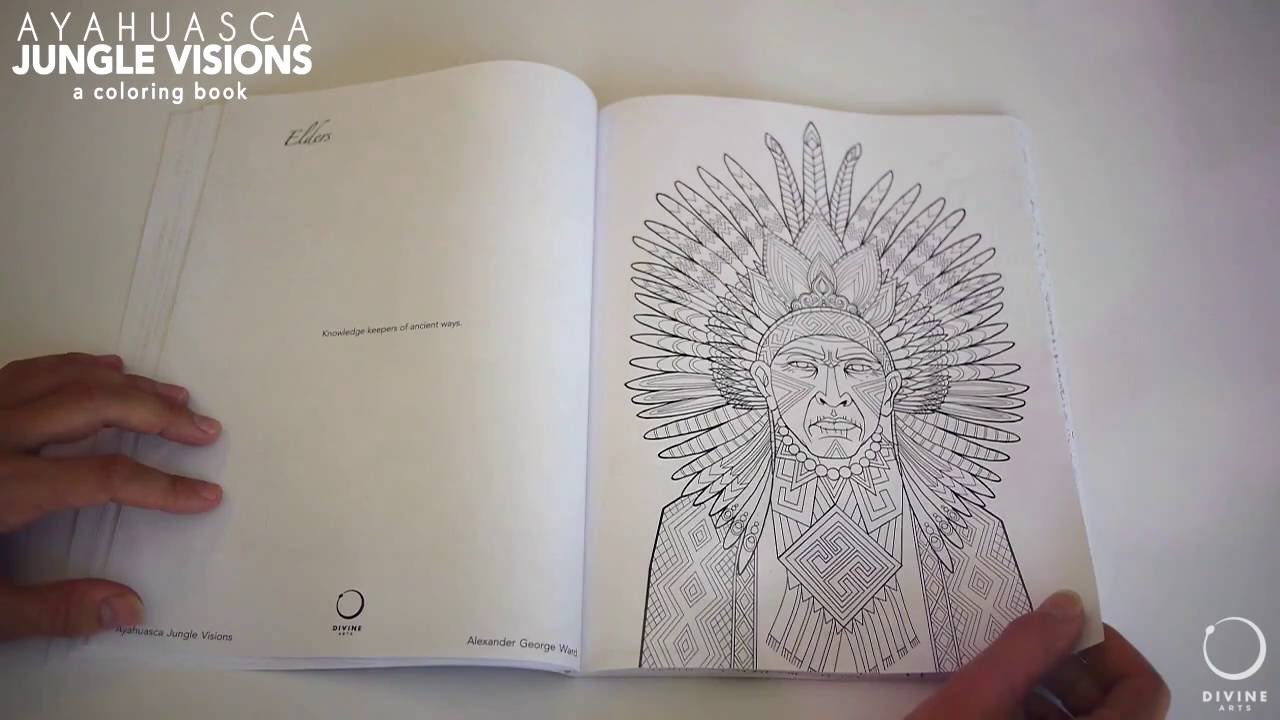 Ayahuasca Jungle Visions Coloring Book | Brief Flip-through - YouTube