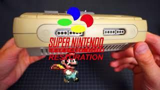 restoring the original SUPER NINTENDO   Retro Console Restoration