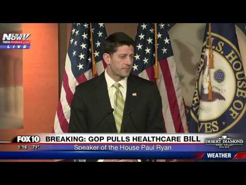 WATCH: Paul Ryan Speaks After Healthcare Bill Pulled By President Trump (FNN)
