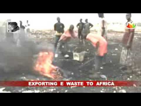 Europe exporting e-waste to African ports