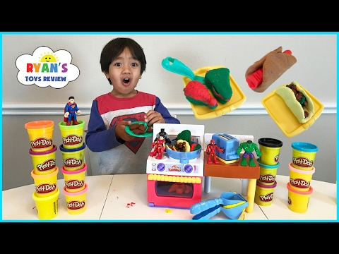 Thumbnail: Play Doh Meal Makin Kitchen Playset Toys For Kids! Pretend Play Food DIY Breakfast Sweet Treats