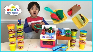 Play Doh Meal Makin Kitchen Playset Toys For Kids! Pretend Play Food DIY Breakfast Sweet Treats