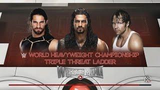 Seth Rollins vs Roman Reigns vs Dean Ambrose! The Shield WrestleMania! WWE 2k16 Dream Match #4