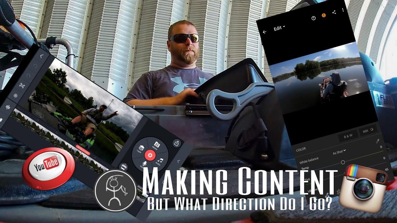 Making Content for Kayak Fishing (Vlog)