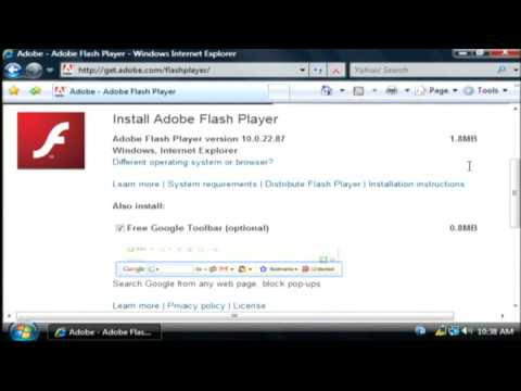 How to download install adobe flash player youtube Install adobe flash