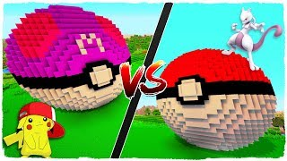 👉 Casa de POKEBALL vs casa de MASTERBALL - MINECRAFT POKEMON