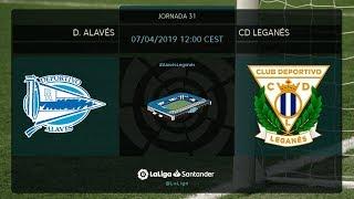 Calentamiento D. Alavés vs CD Leganés
