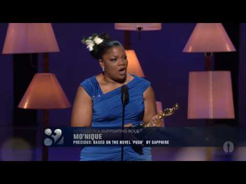 Mo'Nique winning Best Supporting Actress - YouTube