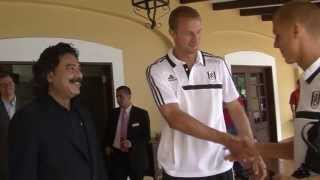 New Chairman Shahid Khan meets the Fulham Players