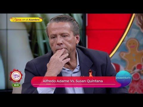 Alfredo Adame y Susan Quintana discuten en una llamada en vivo   Sale el Sol
