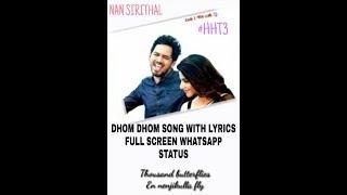 Nan Sirithal Dhom Dhom Song Tamil Whatsapp Status Full Screen 2019 ABCreations