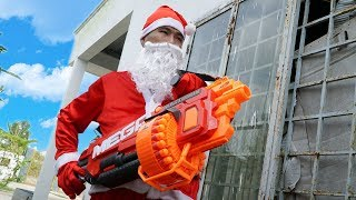NERF GUN SANTA CLAUS BATTLE SHOT