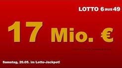 Lottozahlen Ziehung am Samstag: Am 20.05.2017 mit 17 Millionen im Lotto Jackpot