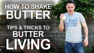 How To Make Butter At Home - Easy Experiment!
