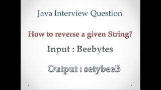 Best Way Of Reversing a String & Worst Way Of Reversing a String - Java Program
